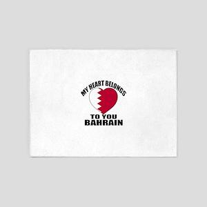 My Heart Belongs To You Bahrain Cou 5'x7'Area Rug