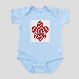 Candy Cane Fleur de lis (2) Infant Bodysuit