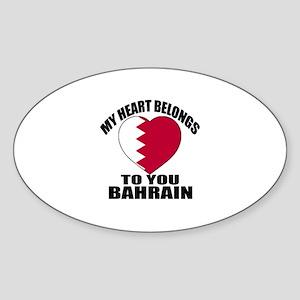 My Heart Belongs To You Bahrain Cou Sticker (Oval)