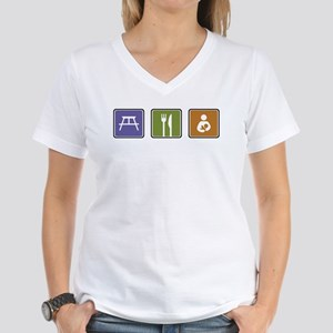Breastfeeding Symbol Women's V-Neck T-Shirt