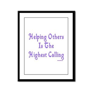 Helping Others Framed Panel Print