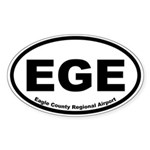 Eagle County Regional Airport Oval Sticker