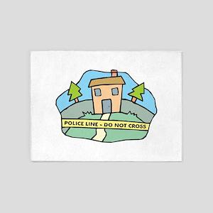 Police Line 5'x7'Area Rug