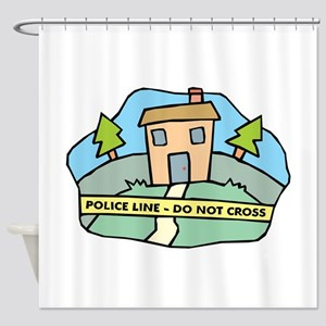 Police Line Shower Curtain