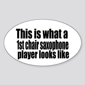 1st Chair Player Oval Sticker