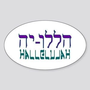 Hallelujah! Oval Sticker
