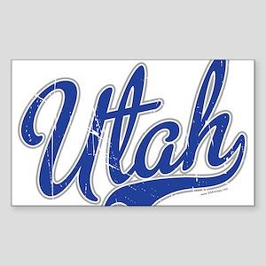 Utah State Script Font Sticker