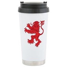 Lion Red 16 oz Stainless Steel Travel Mug