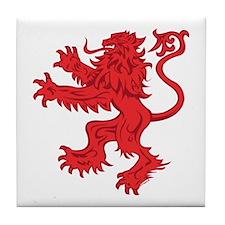 Lion Red Tile Coaster