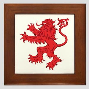 Lion Red Framed Tile