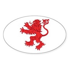 Lion Red Sticker (Oval)