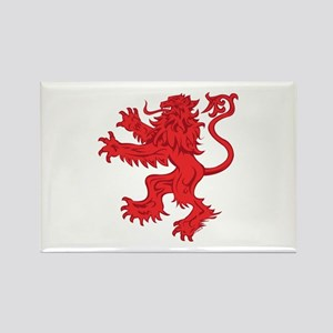 Lion Red Rectangle Magnet