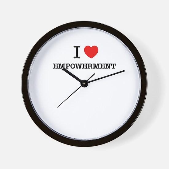 I Love EMPOWERMENT Wall Clock