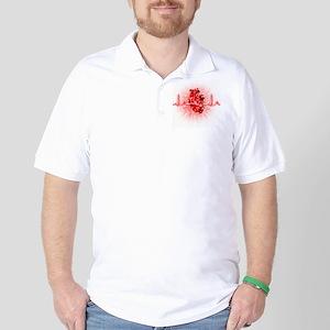 Heart and ECG Golf Shirt