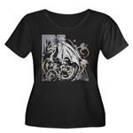 Fire Fly Women's Plus Size Scoop Neck Dark T-Shirt