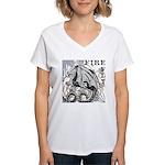 Fire Fly Women's V-Neck T-Shirt