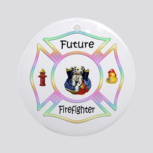 Future Firefighter Pastel Ornament (Round)