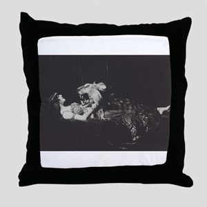 The Lady and the Lion Throw Pillow