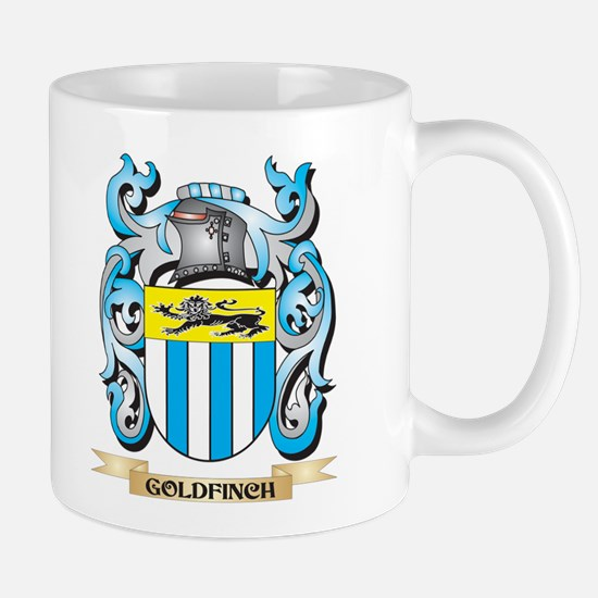 Goldfinch Coat of Arms - Family Crest Mugs