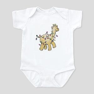 holiday giraffe Infant Bodysuit