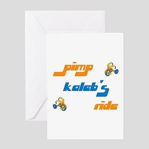 Pimp Kaleb's Ride Greeting Card