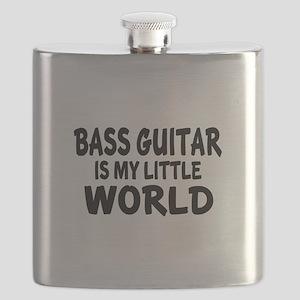 Bass Guitar Is My Little World Flask