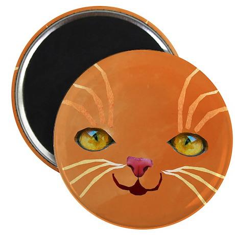 """orange cat face 2.25"""" Magnet (10 pack)"""