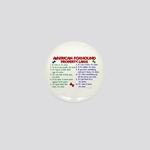 American Foxhound Property Laws 2 Mini Button