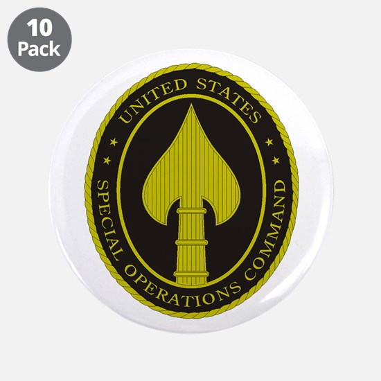 "US SPECIAL OPS COMMAND 3.5"" Button (10 pack)"