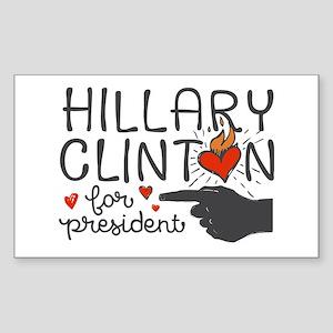 Burning Hearts Hillary Sticker