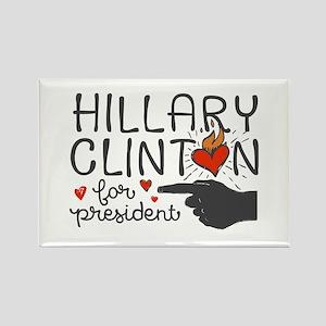 Burning Hearts Hillary Magnets