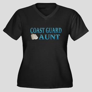 coast guard girlfriend dog ta Women's Plus Size V-