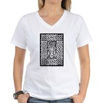 Celtic Knot Bare Branches Women's V-Neck T-Shirt