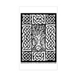 Celtic Knot Bare Branches Sticker (Rectangle)