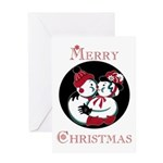 Vintage Style Snowman Christmas Greeting Card