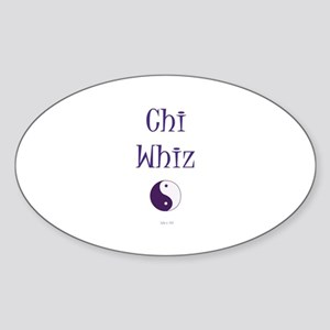 Chi Whiz Oval Sticker