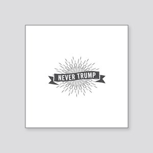 Starburst Never Trump Sticker