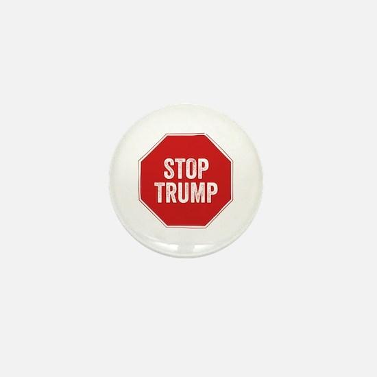 Stop Sign Stop Trump Mini Button