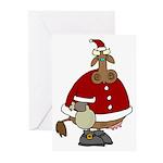 Santa Cow Christmas Greeting Cards. (Pk of 20)