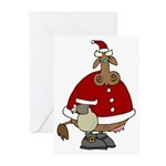 Santa Cow Christmas Greeting Cards (Pk of 10)