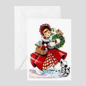 Vintage Style Christmas Greeting Card