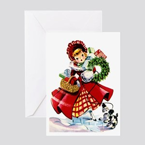 Vintage christmas greeting cards cafepress vintage style christmas greeting card m4hsunfo