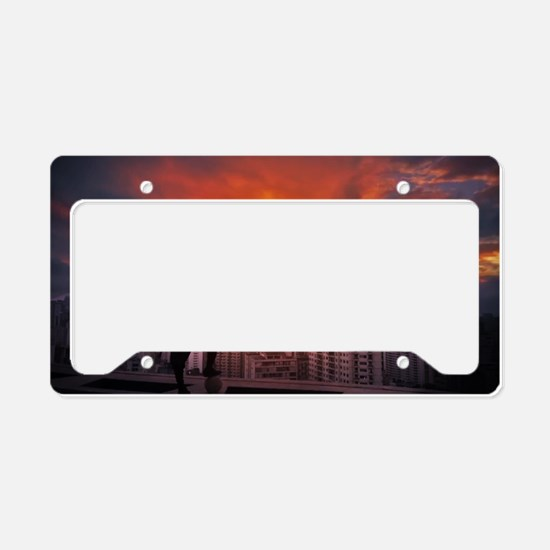 Unique Samurai License Plate Holder