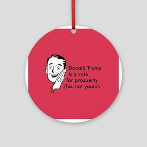 Trump Prosperity Round Ornament