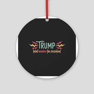 Trump Total Wanker Round Ornament