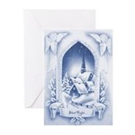 Vintage Style Christmas Greeting Cards. (Pk of 20)