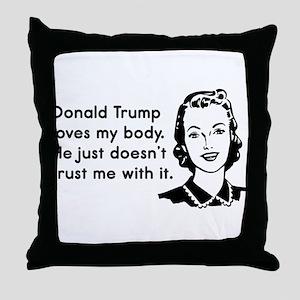 Trump Trust Women Throw Pillow