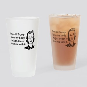 Trump Trust Women Drinking Glass