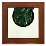 Green Tentacles Framed Tile