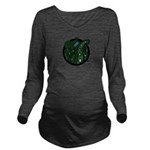 Green Tentacles Long Sleeve Maternity T-Shirt